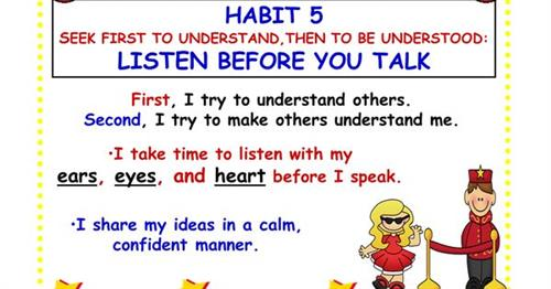 7 Habits of Healthy Kids / Habit 5 - Seek First to Understand ...